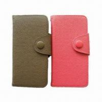 China PU Cases with Palm Pattern for iPhone 5, Various Colors Available on sale