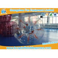 Clear 1.5M Conventional Human Bumper Bubble Ball High Temperature Welding Manufactures