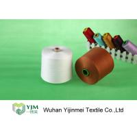 Raw White  Polyester TFO Yarn Good Elasticity For Sewing By Hand / Machine Manufactures