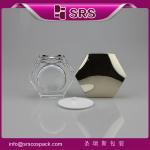 J601 plastic acrylic jar with high quality,hexagon shape jar Manufactures