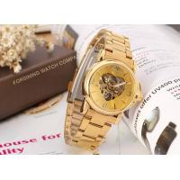 Beautiful Storm Winner Round Gold Ladies Automatic Watch Stainless Steel Bracelet  Manufactures