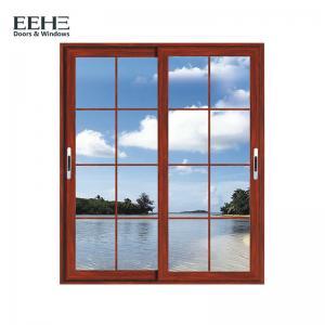 Balcony Double Glazed Aluminium Sliding Windows / Safety Contemporary Aluminium Windows Manufactures