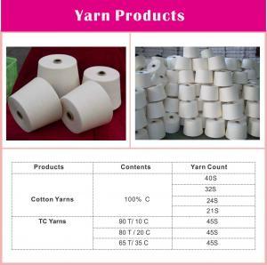 China 100% Cotton ring spun yarn 40S on sale