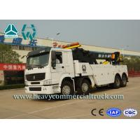White 8X4 Heavy Duty Rotator Wrecker Tow Truck With Boom Rotation 360° Manufactures