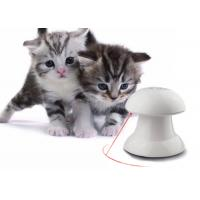 Automatic Rotating Cat Laser Toy In White Color With 4 Speed / Time Setting Manufactures