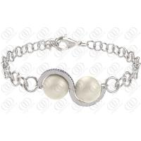 Polished Pearl Cp Surgical Stainless Steel Bracelets Eco Friendly Manufactures