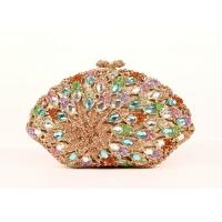 Full Crystal Glitter Clutch Bag , Bronze Clutch Bag For Dinner Party Manufactures