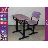 Eco Friendly PP Material Student Desk And Chair Set For International School