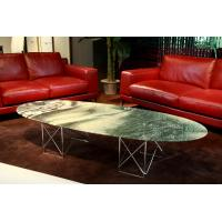 Luxury Round Marble Coffee Tables , Modern Marble Side Table , Oval coffee tables Manufactures