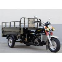 200cc Three Wheel Cargo Motorcycle , cargo Tricycle Motorcycle Front Rear Drum Manufactures
