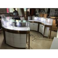 Quality High End Stainless Steel Gold Jewellery Showroom Display Showcase With Led Light for sale