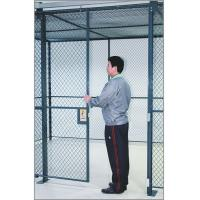 Commercial Wire Mesh Partition Panels Full Height Wire Cage Door 230 Lbs Weight Manufactures