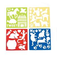 Plastic Stencils Of Dogs And Cats