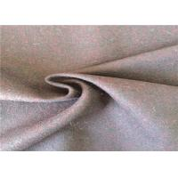 Skin - Friendly Worsted 60% Wool Mix Fabric For Winter Overcoat 380g/M Manufactures