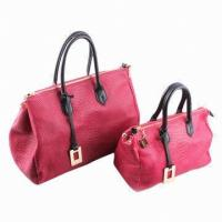 China Crossbody Leather Bags For Women / Cow Genuine Leather Handbag With Rivets on sale