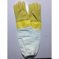 Goat Skin Yellow Bee Gloves Smoothy Leather Wrist Protector White Cloth Sleeve Manufactures