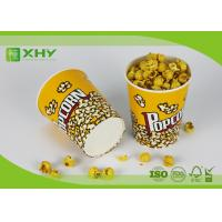 24oz to 170oz Paper Popcorn Buckets 100% food grade , disposable paper popcorn cup and bucket Manufactures