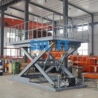 Quality Manual Type Auto Scissor Lift Hydraulic Car Lift Elevator For Car Parking for sale