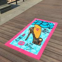 Lavender Girl Patterned Beach Towels Beauty Lipsticks For Beach Chair Covers Manufactures
