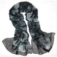The Most Beautiful Embroidered 100% Long Silk Scarf (JJ13) Manufactures