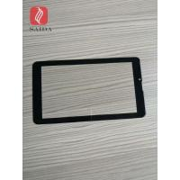 china glass factory OEM 5inch cover lens 0.7mm with 2.5d polished edges CNC processed for touch panel PC Manufactures