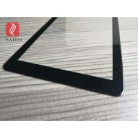 China custom 5inch cut to size 1mm cover glass lens chemical strengthened with 2.5D polished edges and slots for sale