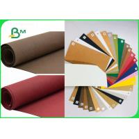 Recyclable Eco friendly Red Washed Kraft Paper For Snack Bags 150cm * 100M Manufactures