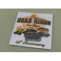 China Personalized Metal Card Souvenir Badges Offset Printing Emblems on sale
