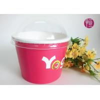 Printing Diposable ice cream paper cups with lids for Frozen Yogurt Manufactures