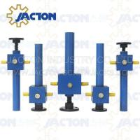 Reliable and versatile JTC500 500kn worm gear screw jack lifting platform with gear box and ball screw Manufactures