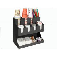 Acrylic stand coffee milk tea snack chain restaurant paper cup holder tissue straw box storage rack Manufactures