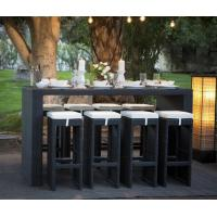 Modern plastic rattan outdoor pub high stool chair and table wicker bar furniture set for outdoor Manufactures