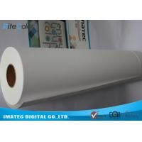 China Inkjet Matte Water Resistant Polyester Fabric Roll 220Gsm For Pigment Digital Printing on sale