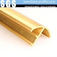 China Copper Extruding Profile Antique Brass Profiles Decorative Brass Profiles on sale