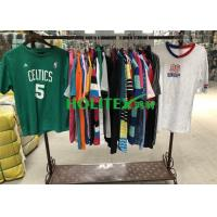 Korean Style Used Mens T Shirts Short Sleeves Cotton / Polyester Material For Summer