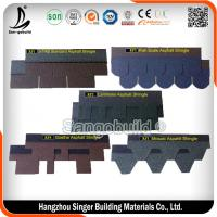 China Wholesale price 3 tab asphalt roofing shingles, red standard roofing shingles on sale