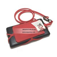 Wholesale Silicone Smart Phone Wallet card holder pouch with lanyard Manufactures