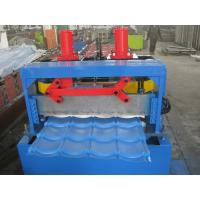 Quality 2 - 6M/min forming speed steel roof tile roll forming machine, PLC control for sale