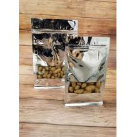 Silver Aluminum Foil Stand Up Pouch Window Opening Self - Sealing For Food Packaging Manufactures