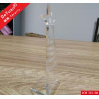 Clear Acrylic Trophies And Awards Custom Design Plexiglass ROHS Manufactures