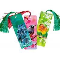 Custom 0.6 mm PET 3D Lenticular Bookmark With Two Sides CMYK Printing Manufactures