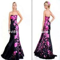 2011 Embroidery Strapless Black Evening Dress (PD-31) Manufactures