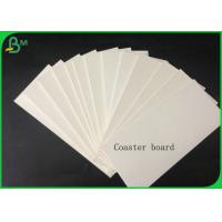 1.4mm 100% Virgin Pulp White Coaster Board For Making Car Air Fresher Or Coaster Manufactures