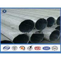 China Dodecagonal Shape galvanized steel tubing , metal power pole Over 25 years Service life on sale