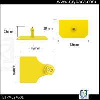 Waterproof Structure Cattle Identification Tags / Electronic Ear Tags For Cattle Manufactures