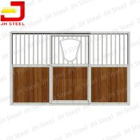 Metal Paddock Stable Riding Shed Horse Stall Panels With Sliding Door Manufactures