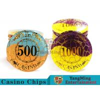 Quality Security Promotional Casino Poker Chips With Smooth And Delicate Texture for sale