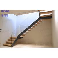 Meet International Standard Invisible Beam Wood Glass Staircase Manufactures