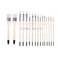 Artist Professional Body Paint Brushes Set With Carrying Case 16Pcs Watercolor Oil Acrylic Painting Brushes Manufactures