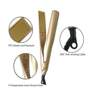China Iron Hair Straightener Iron Brush Ceramic 2 In 1 Hair Straightening Curling Irons Hair Curler on sale